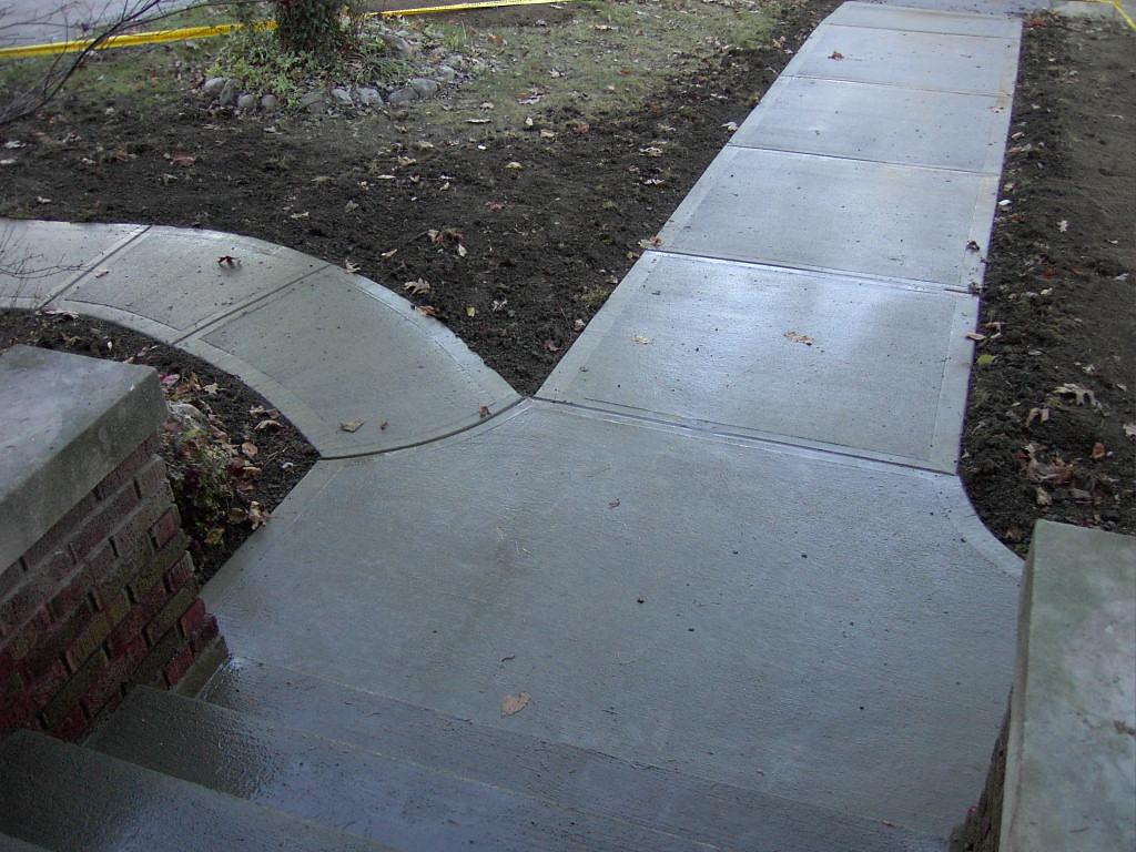 Sidewalks (from porch).