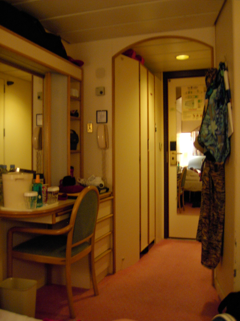 The rest of our stateroom. No, really.